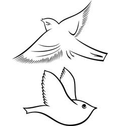 Bird symbols vector