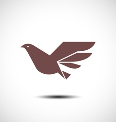 Flying bird abstract icon vector
