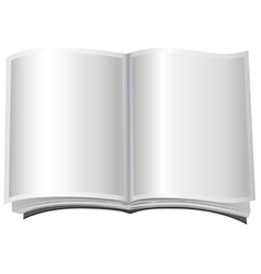 White open book in paperback vector