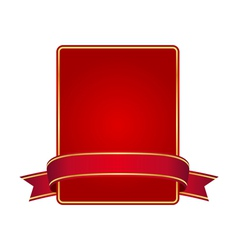 Red frame with banner vector