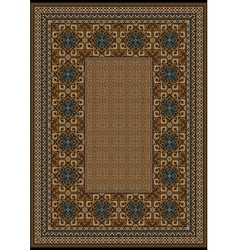 Luxury carpet with blue pattern vector