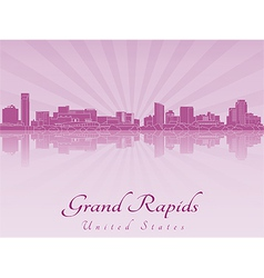Grand rapids skyline in purple radiant orchid vector