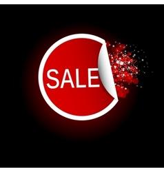 Sale tag label vector