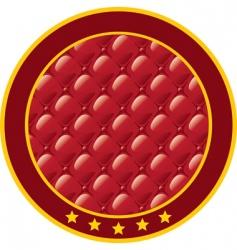 Upholstery sticker vector