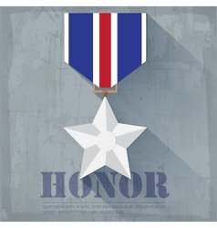 Grunge military honor medal icon background vector