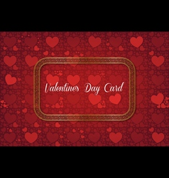 Abstract decorative valentines day card vector