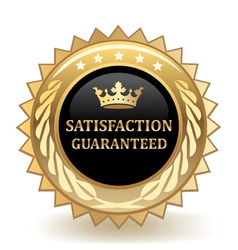 Satisfaction guaranteed vector