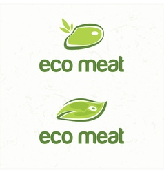 Abstract of stylized eco meat vector
