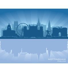 Nottingham england skyline vector