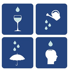 Water care icons composition vector