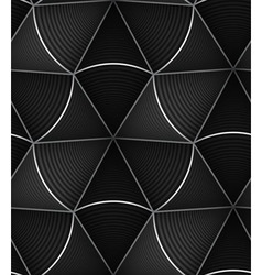 Striped black white circle cone 3d seamless vector