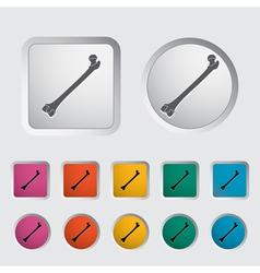 Bone icon 2 vector
