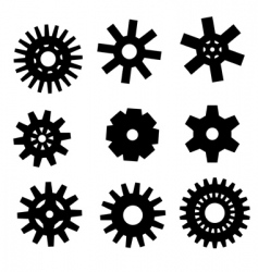 Gearwheel icons vector