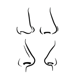 Nose icon vector