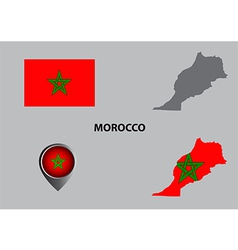 Map of morocco and symbol vector