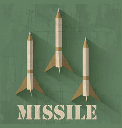 Grunge missile icon background concept desi vector