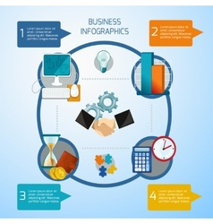 Business infographics set vector