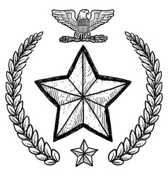 Doodle us military wreath army vector