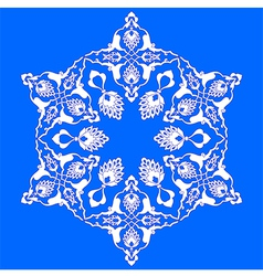 Blue artistic ottoman pattern series seventy two vector