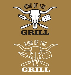 King of the grill barbecue image vector