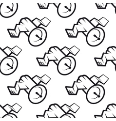Seamless pattern of communications satellite icon vector
