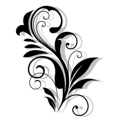 Curly floral embellishment vector