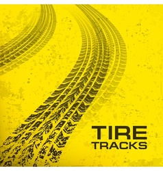 Tire tracks on yellow vector