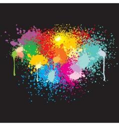 Grunge splatter banner vector