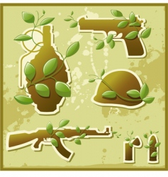 Nature against war vector