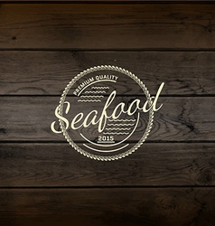 Seafood badges logos and labels for any use vector