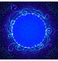 Abstract blue mystic lace background with swirl vector