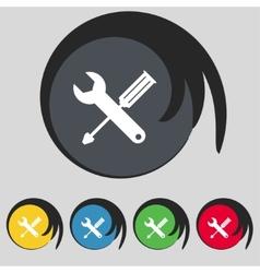 Repair tool sign icon service symbol screwdriver vector