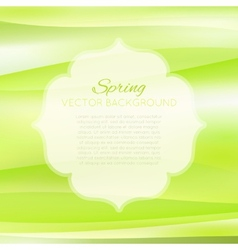 Blurred spring green abstract background vector