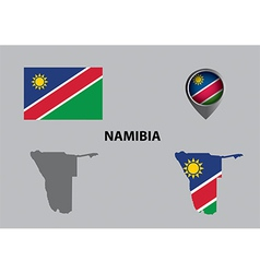 Map of namibia and symbol vector