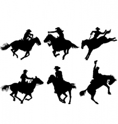 Cowboys silhouettes vector