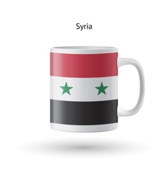 Syria flag souvenir mug on white background vector