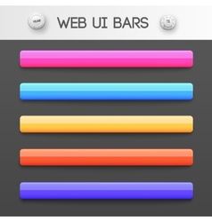 Web interface ui elements vector
