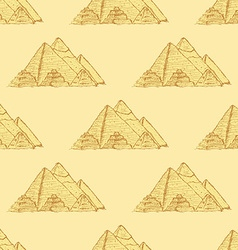 Sketch egypt pyramids in vintage style vector