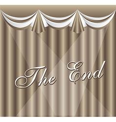 Movie ending screen vector