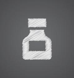 Drugs sketch logo doodle icon vector