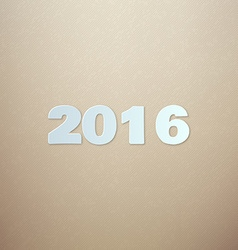 2016 on cardboard background vector