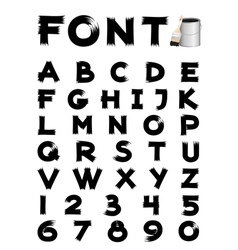 Font brush vector
