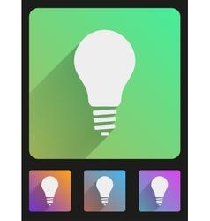 Flat icon set bulb eco lamp vector