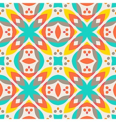 Abstract geometric pattern - colorful floor tile vector