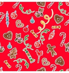 Xmas decorations set vector
