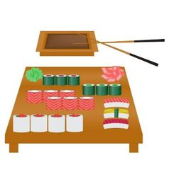 Japanese cuisine vector