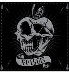 Poison apple skull vector