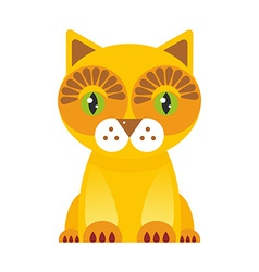 Funny red cat on white background vector