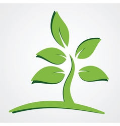 Nature concept green leaves vector