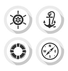 Set of travel flat icons vector